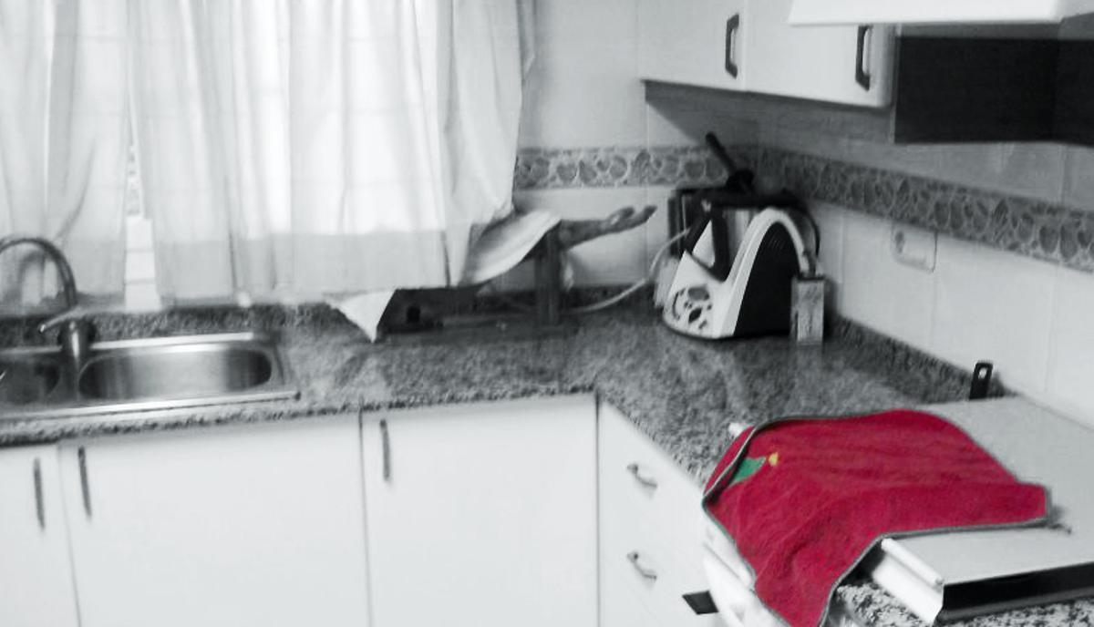 Reforma integral de cocina realizada en Manises - Estado original