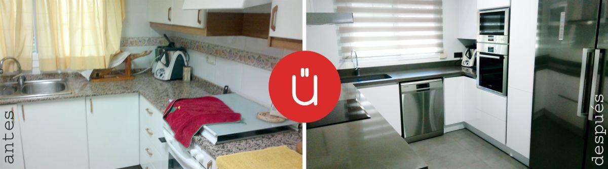 Antes y Después de reforma de una cocina en Manises - Valencia