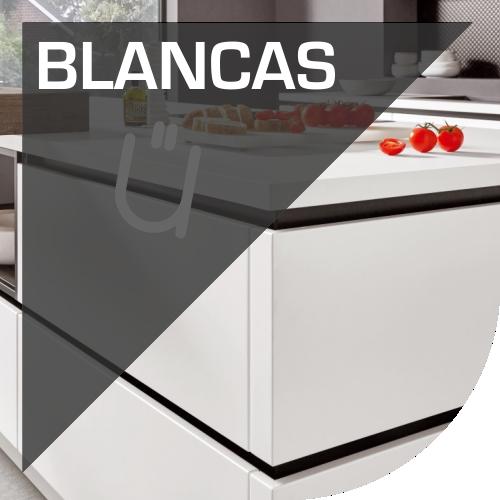Muebles de cocina modernos en blanco en Valencia