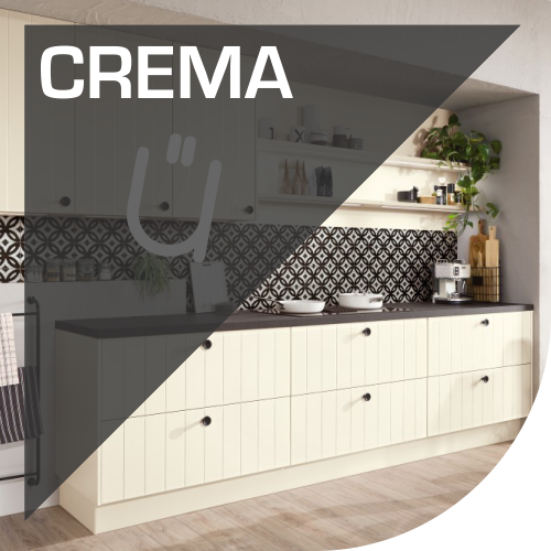 Muebles de cocina con acabados en tonos crema
