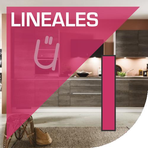 Diseños lineales en cocinas de Valencia