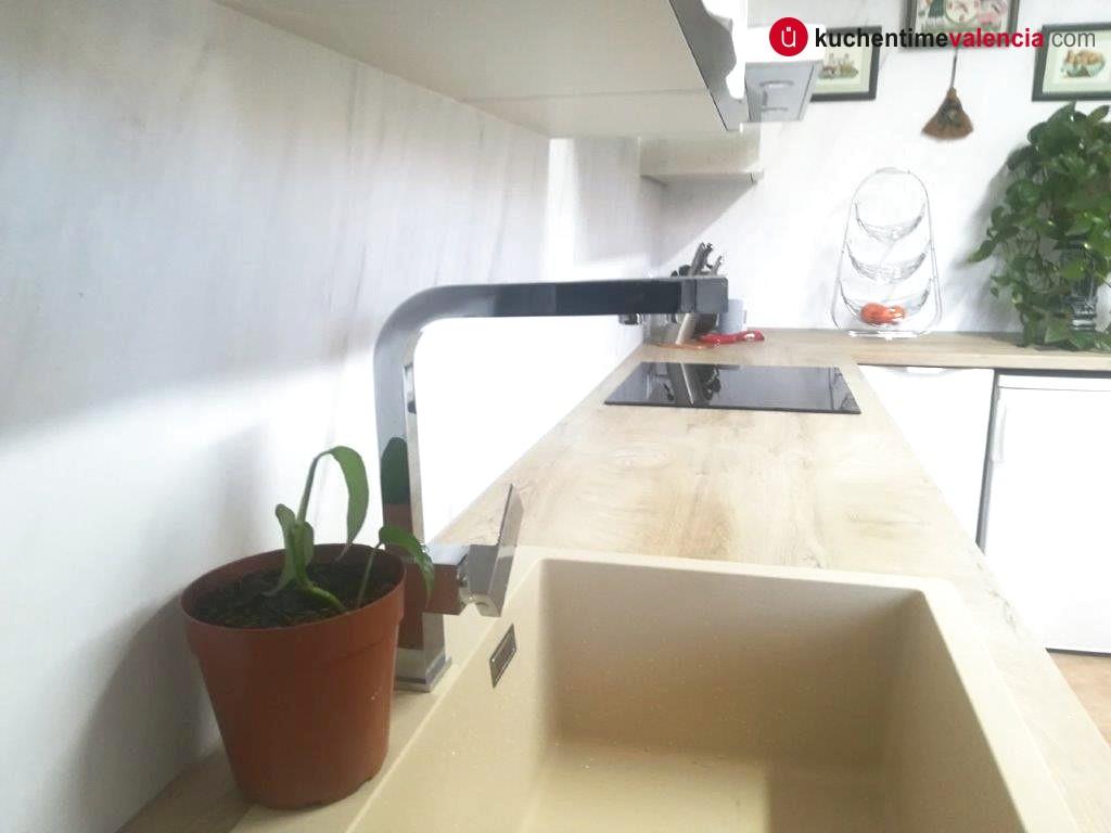 Fregadero en cocina sin obras en Valencia